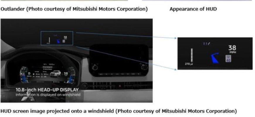 В серийных автомобилях Mitsubishi Motors используется WS HUD Panasonic